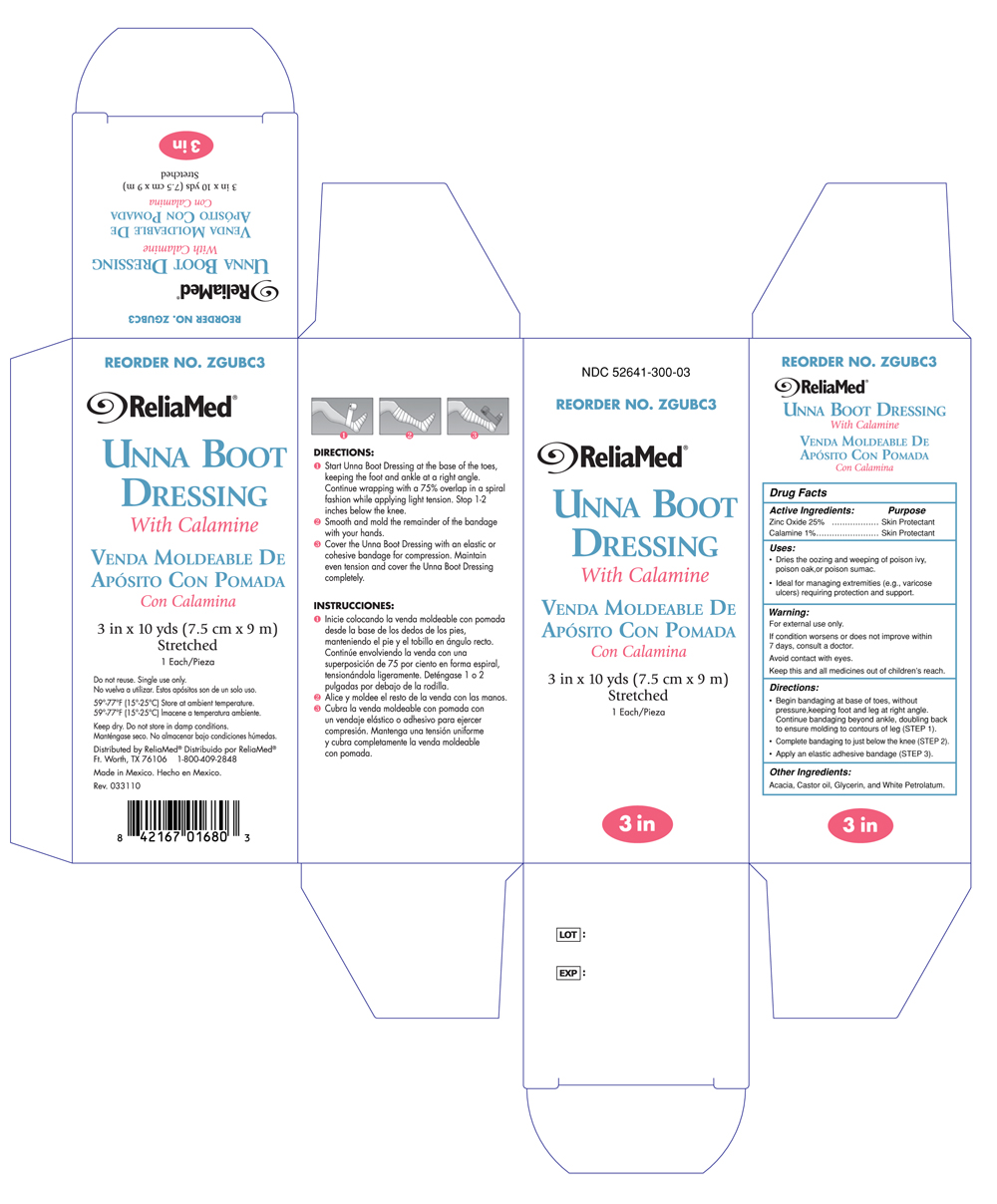 Reliamed Unna Boot 3 inches with Calamine ZGUBC3