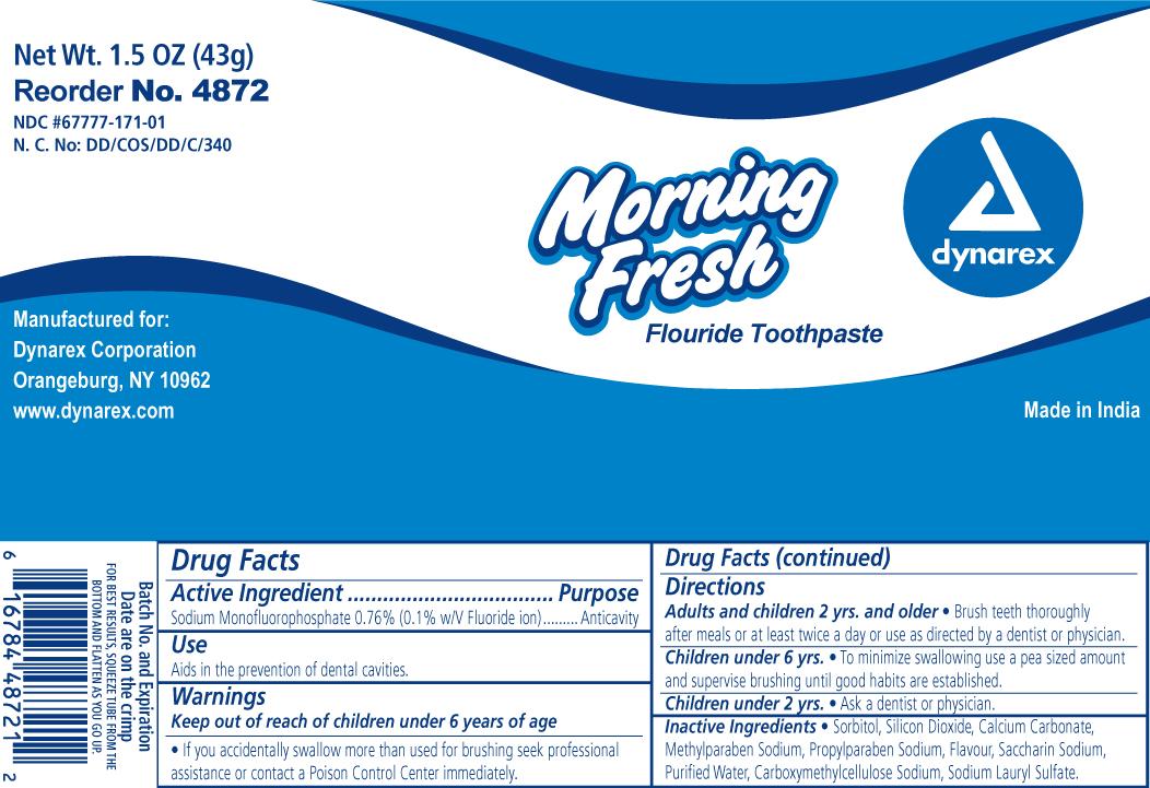 Morning Fresh (Sodium Monofluorophosphate) Paste [Dynarex Corporation]