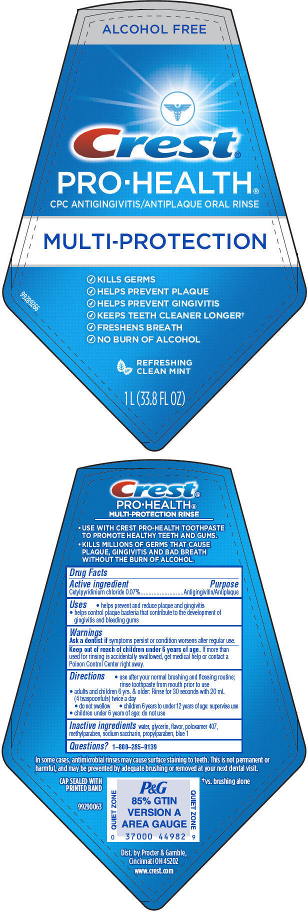 Crest Pro-health Multi-protection Refreshing Clean Mint (Cetylpyridinium Chloride) Rinse [Procter & Gamble Manufacturing Company]