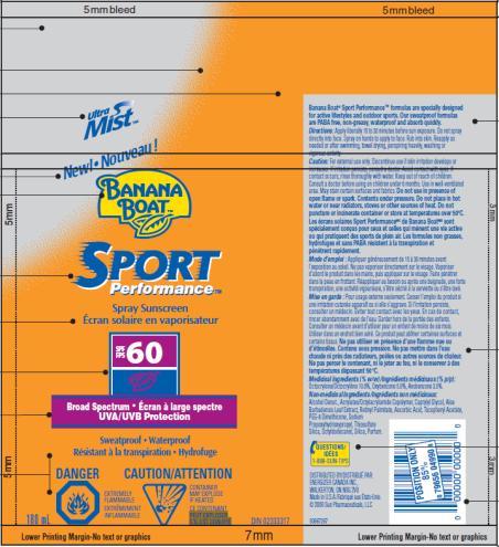 PRINCIPAL DISPLAY PANEL Banana Boat Sport SPF 60