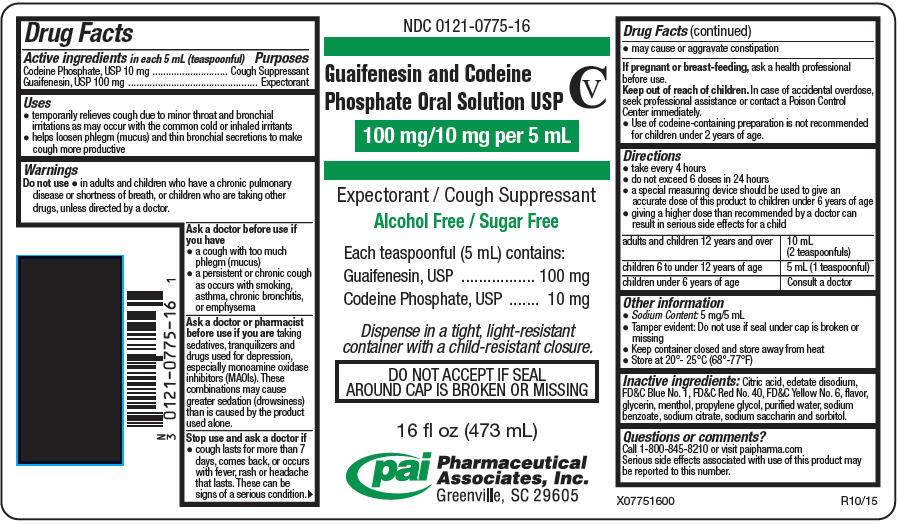 Guaifenesin And Codeine Phosphate Solution [Pharmaceutical Associates, Inc.]