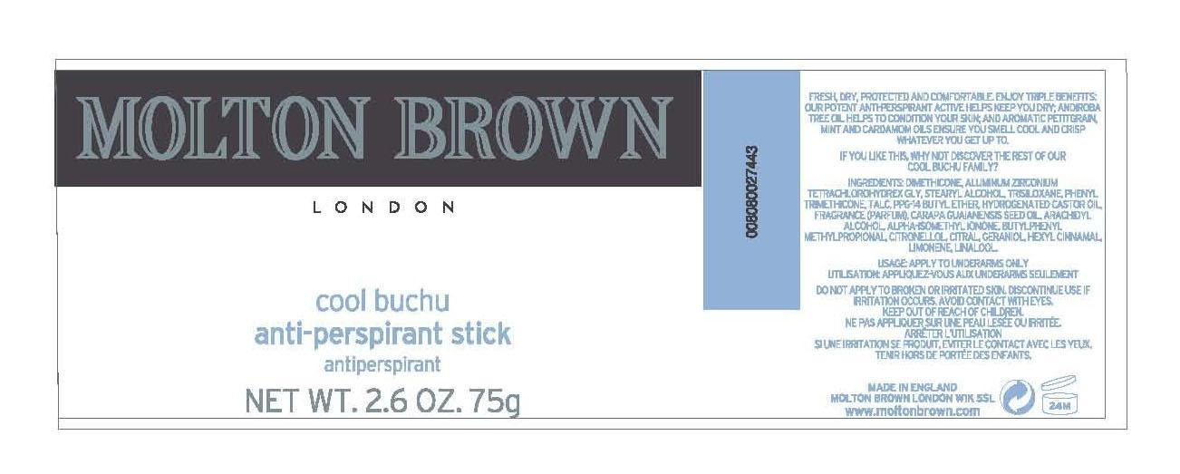 Molton Brown Anti-perspirant Stick Cool Buchu (Aluminum Zirconium Tetrachlorohydrex) Stick [Molton Brown Ltd. ]