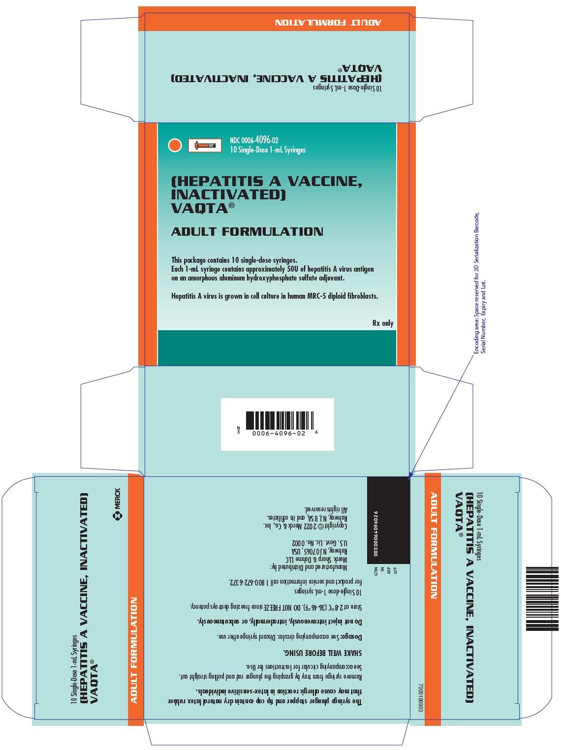 PRINCIPAL DISPLAY PANEL - 10 Single-Dose 1 mL Syringe Carton
