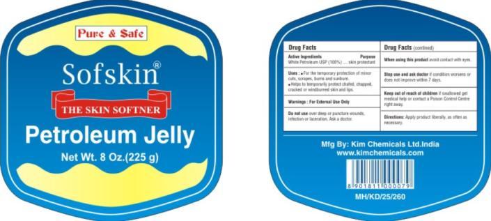 Sofskin Petroleum (White Petroleum) Jelly [Nova Petroleum & Chemicals Corporation]