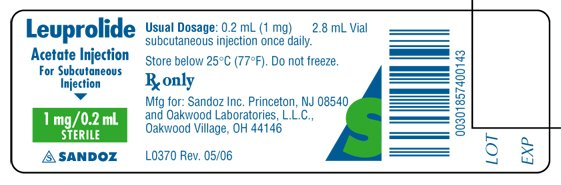 Leuprolide Acetate Injection, Solution [Eon Labs, Inc.]