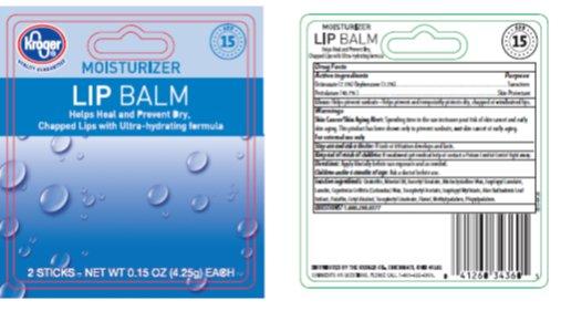 Kroger Moisturizer SPF 15 Lip Balm