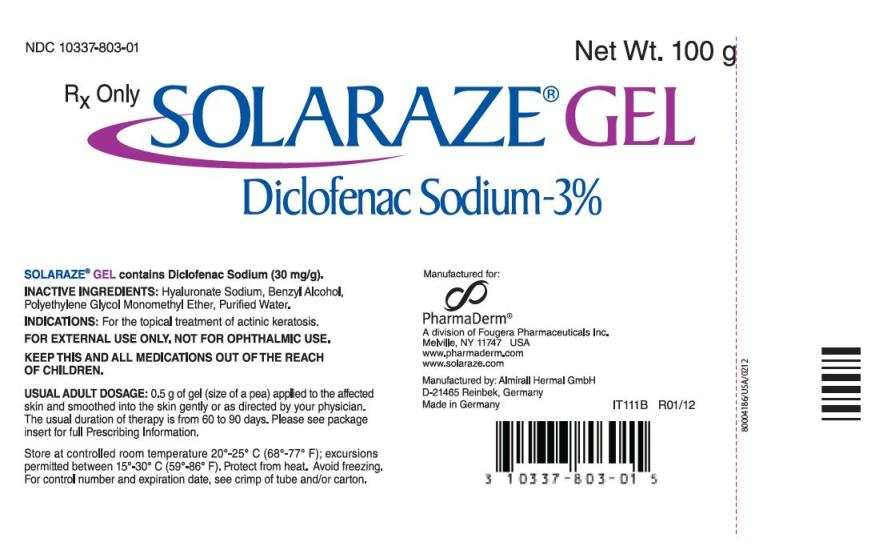 Solaraze (Diclofenac Sodium) Gel [Pharmaderm, A Division Of Fougera Pharmaceuticals Inc.]