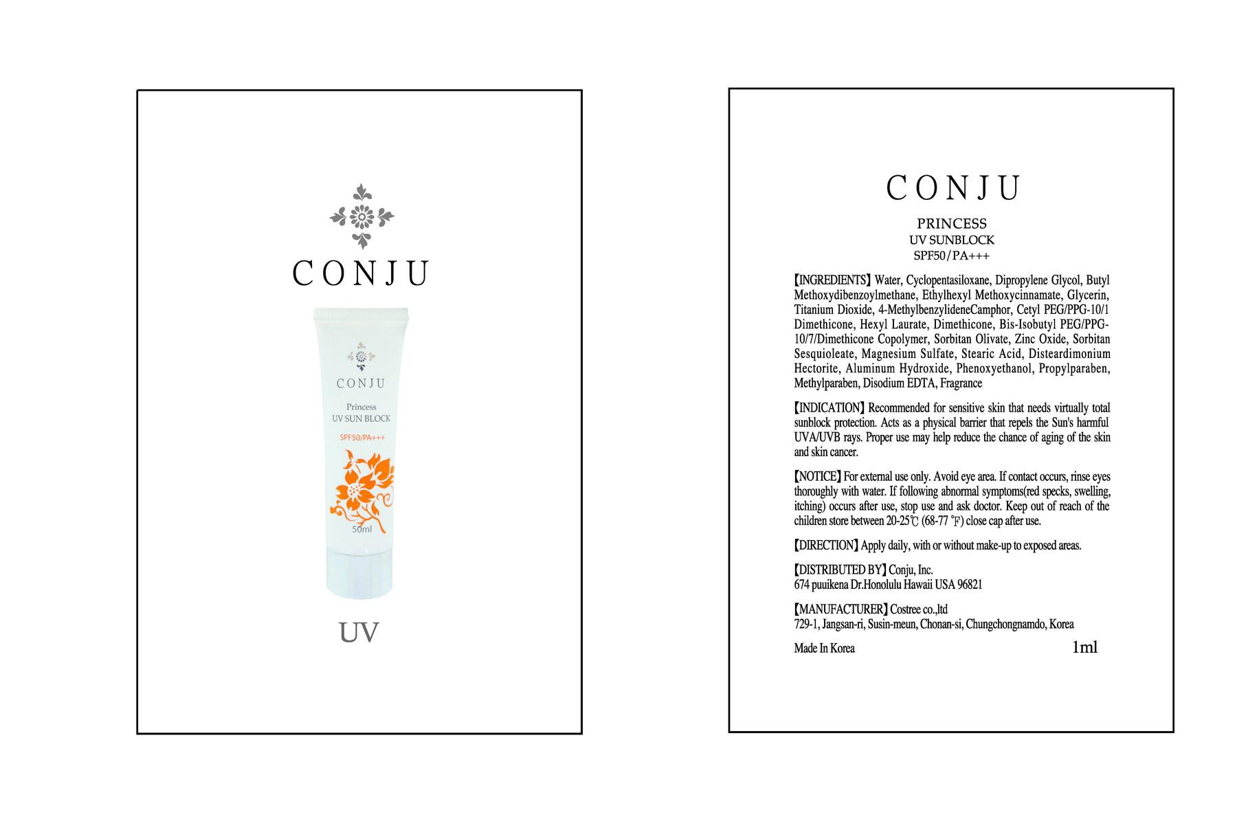 Conju Princess Uv Sun Block (Ethylhexyl Methoxycinnamate) Cream [Conju Inc]
