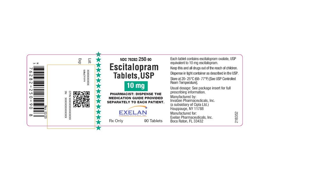 Escitalopram Oxalate (Escitalopram ) Tablet, Film Coated [Exelan Pharmaceuticals Inc.]
