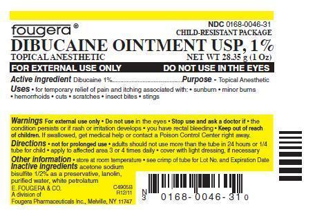 Dibucaine Ointment [E. Fougera & Co. A Division Of Fougera Pharmaceuticals Inc.]