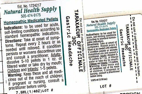 Gastric Headache (Taraxacum Officinale) Pellet [Natural Health Supply]