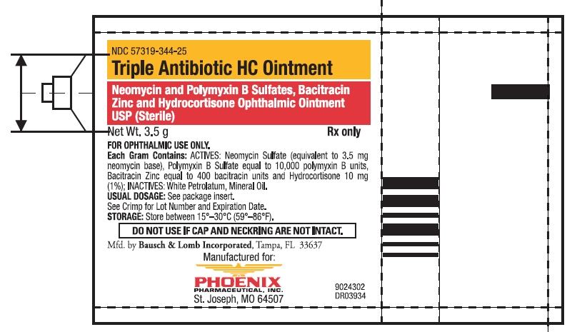 Triple Antibiotic Hc (Neomycin Sulfate And Polymyxin B Sulfate, Bacitracin Zinc And Hydrocortisone) Ointment [Phoenix Pharmaceutical, Inc.]