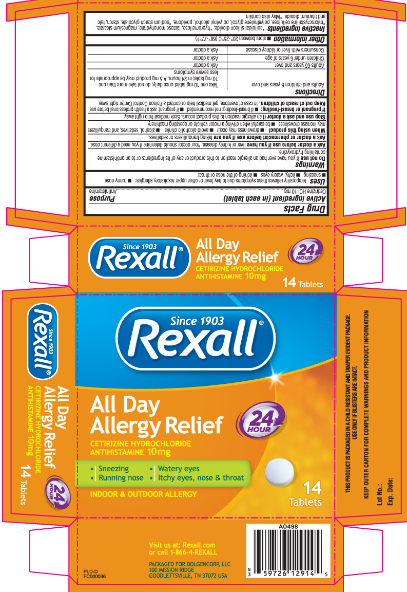 All Day Allergy Relief 24 Hour (Cetirizine Hcl) Tablet [Dolgencorp, Inc. (Dollar General & Rexall)]