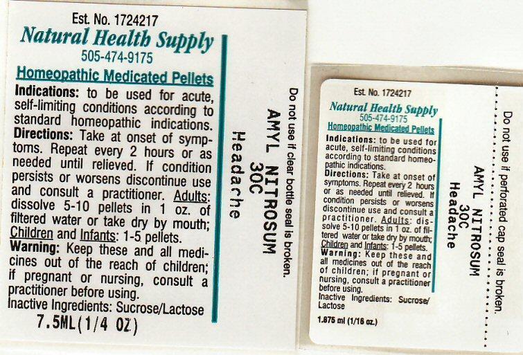 Headache (Amyl Nitrite) Pellet [Natural Health Supply]
