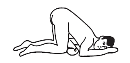 Knee-chest position illustration