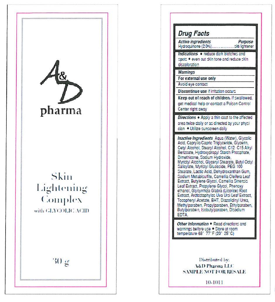 Skin Lightening Complex (Hydroquinone) Cream [G.s. Cosmeceutical Usa, Inc.]