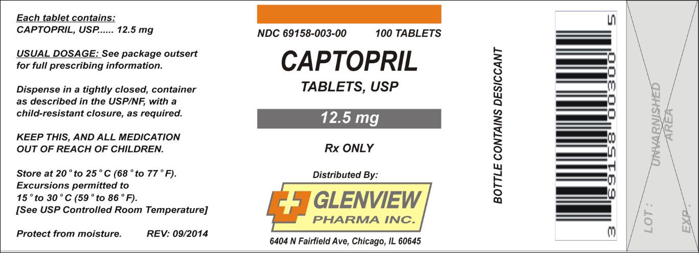 Captopril Tablet [Glenview Pharma Inc.]