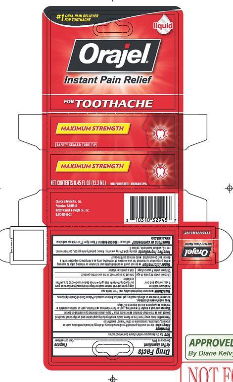 Orajel Maximum Strength (Benzocaine) Liquid [Church & Dwight Co., Inc.]