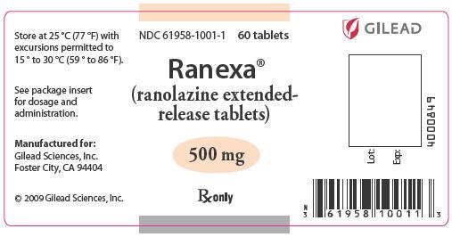 Ranexa (Ranolazine) Tablet, Film Coated, Extended Release [Gilead Sciences, Inc.]