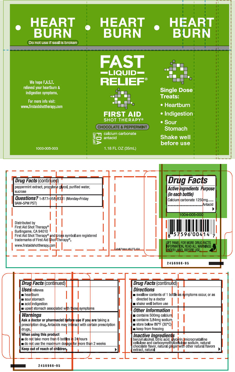 First Aid Shot Therapy Heartburn Relief (Calcium Carbonate) Liquid [First Aid Beverages, Inc.]