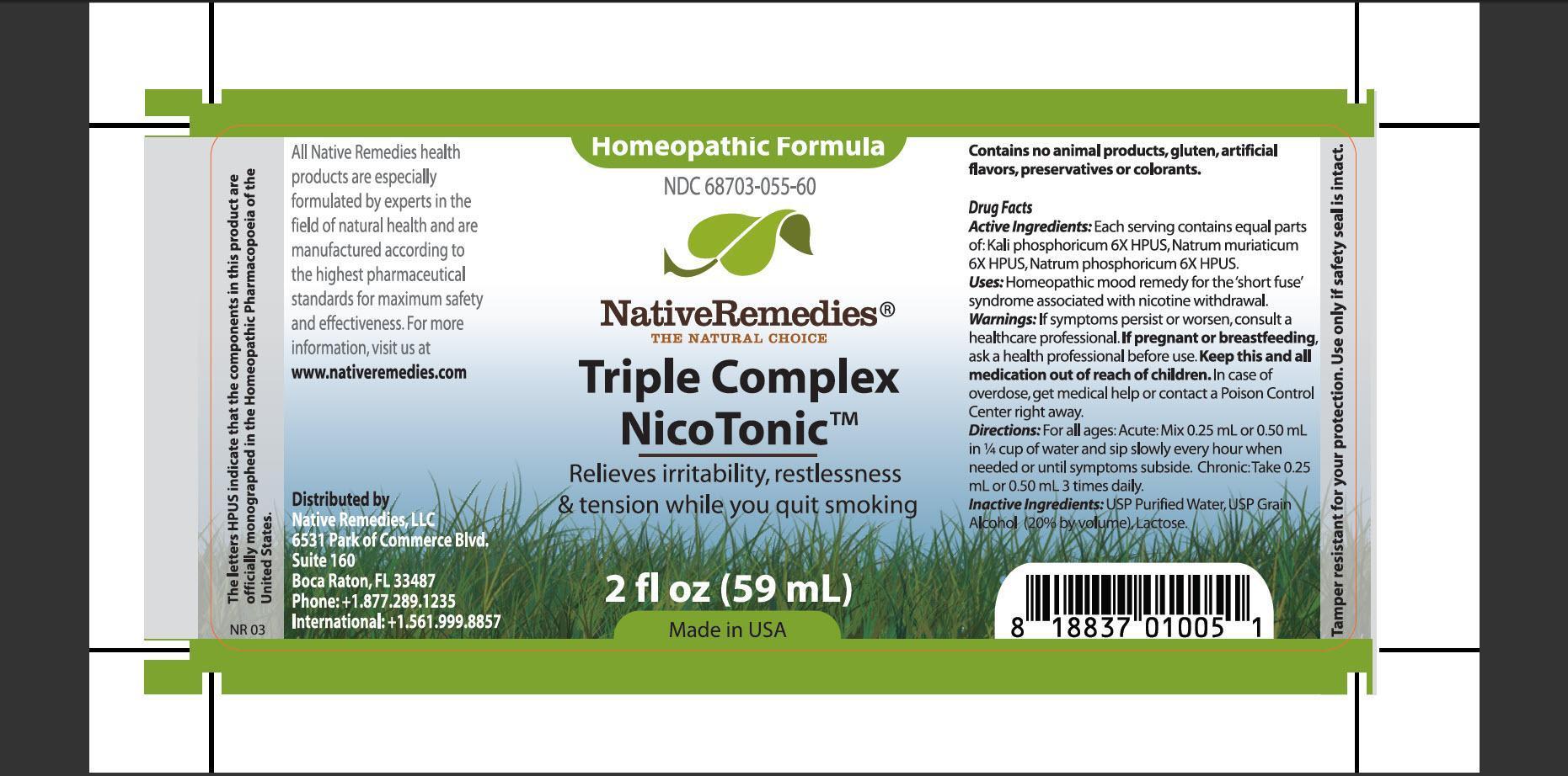 Triple Complex Nicotonic (Kali Ohosphoricum, Natrum Muriaticum, Natrum Ohosphoricum) Tincture [Native Remedies, Llc]