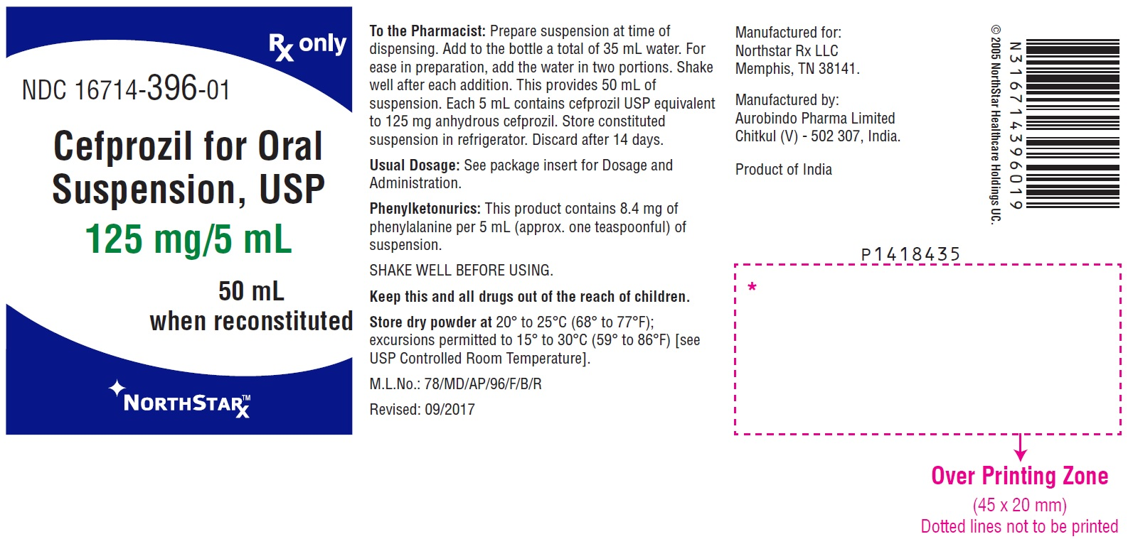 Cefprozil Powder, For Suspension [Northstar Rx Llc]