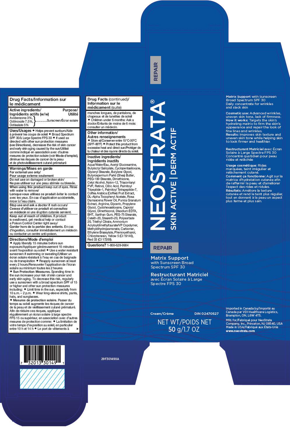 Neostrata Skin Active Matrix Support Spf 30 (Avobenzone, Octinoxate, And Octisalate) Cream [Neostrata Company Inc.]