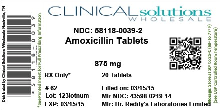 Amoxicillin Tablet, Film Coated [Clinical Solutions Wholesale]