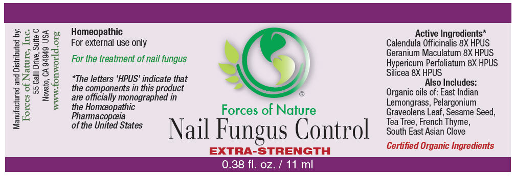 Nail Fungus Control (Calendula Officinalis Flowering Top, Geranium Maculatum Root, Hypericum Perforatum, And Silicon Dioxide) Solution/ Drops [Forces Of Nature]