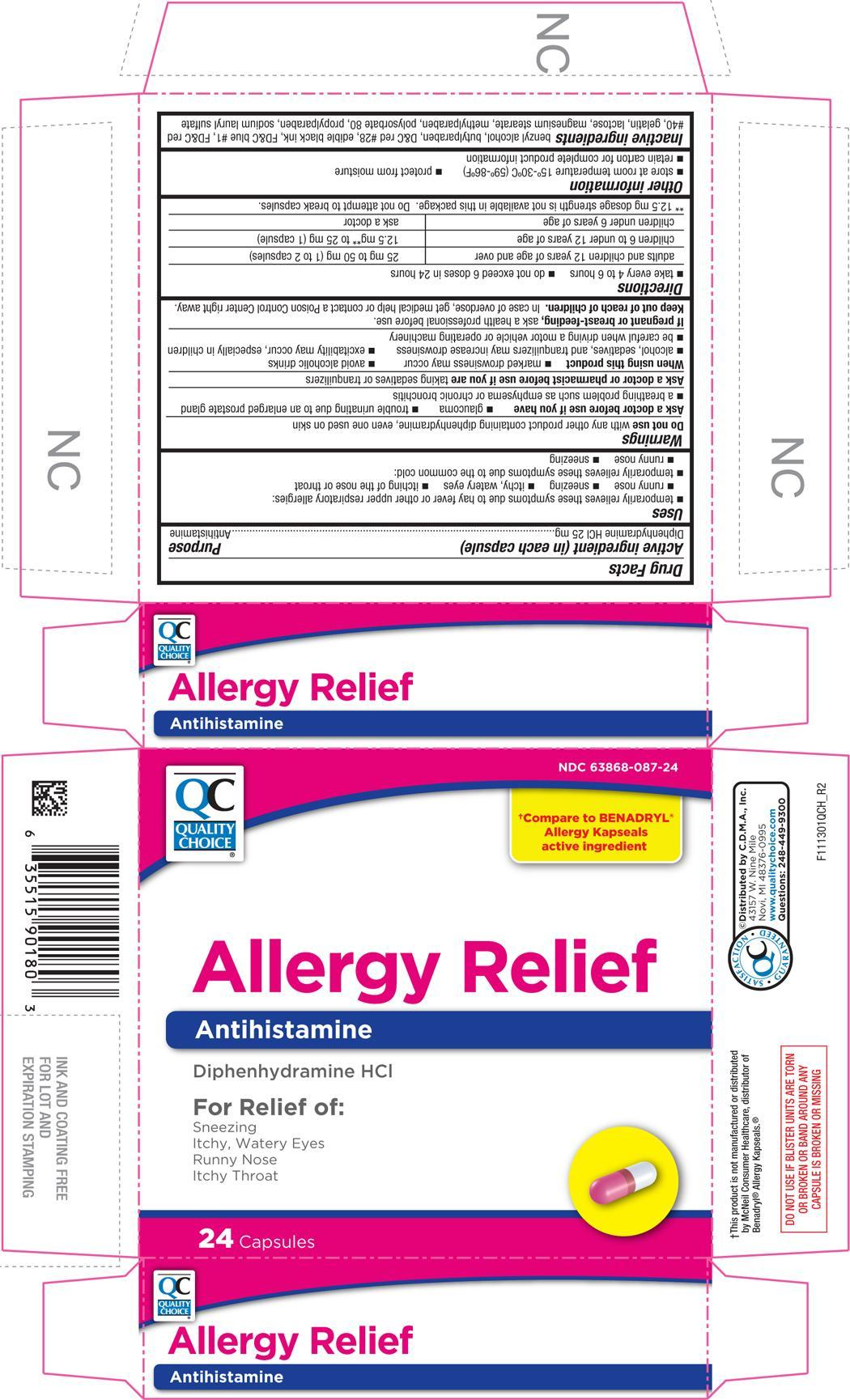 Allergy Relief (Diphenhydramine Hydrochloride) Capsule [Chain Drug Marketing Association]