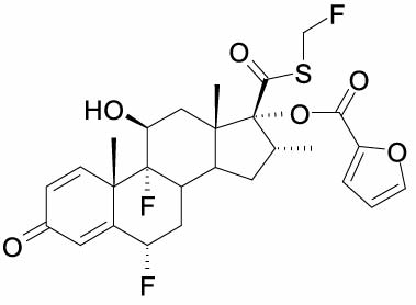Fluticasone chemical structure