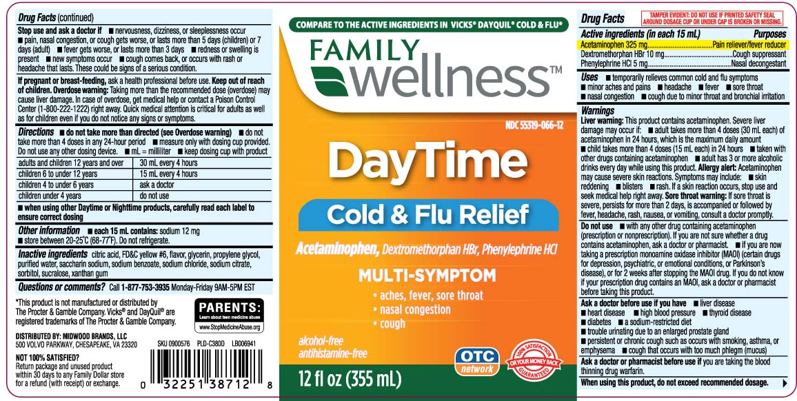 Daytime Cold And Flu Multi Symptom Relief (Acetaminophen, Dextromethorphan Hydrobromide, Phenylephrine Hydrochloride) Liquid [Family Dollar (Family Wellness)]