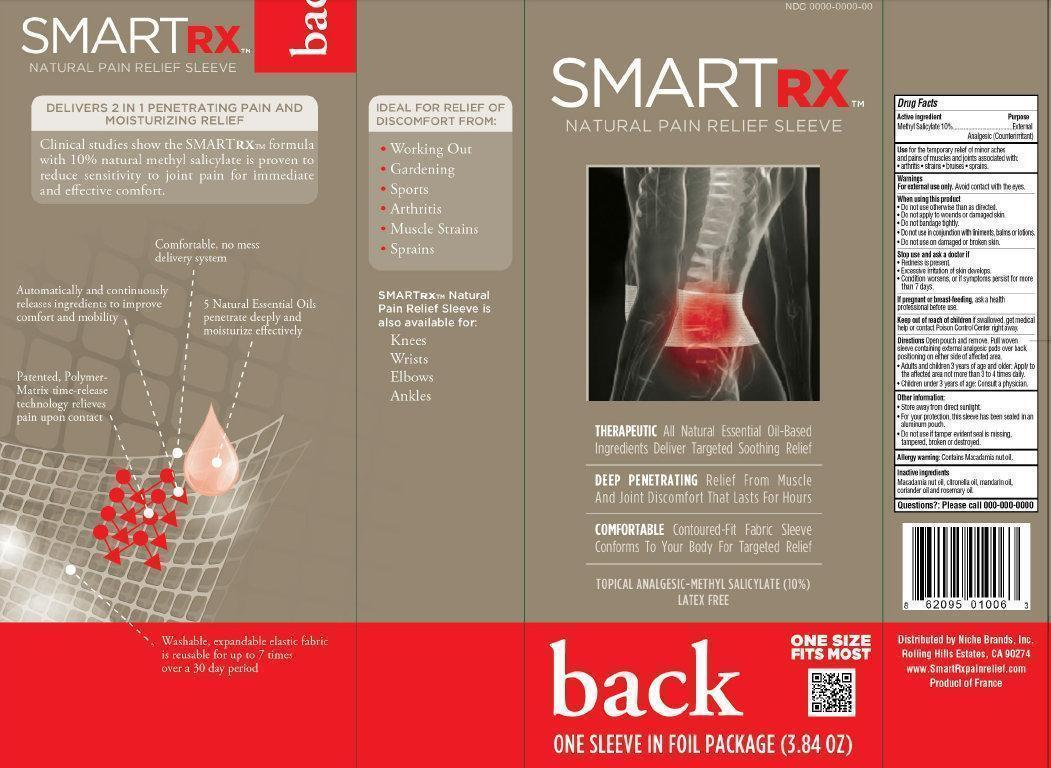 Smartrx Natural Pain Relief Sleeve Back (Methyl Salicylate) Liquid [Niche Brands, Inc.]