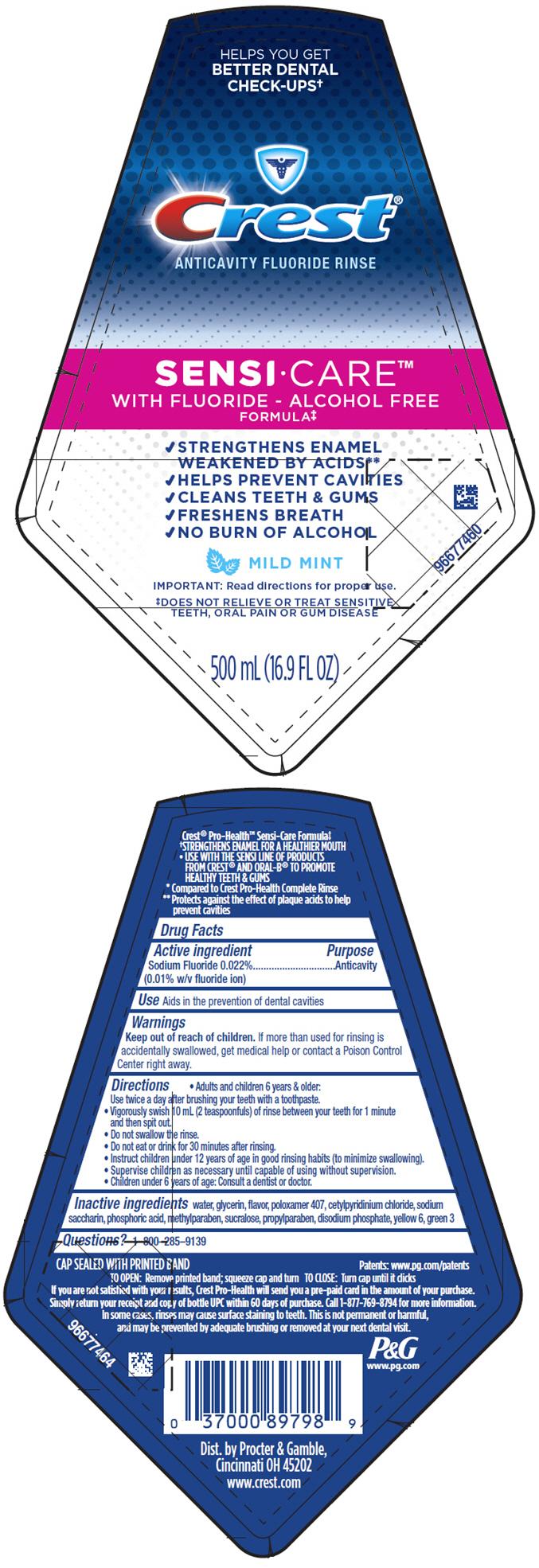 Crest Sensi-care (Sodium Fluoride) Rinse [Procter & Gamble Manufacturing Company]