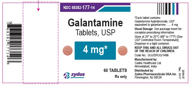 galantamine tablets USP, 4mg