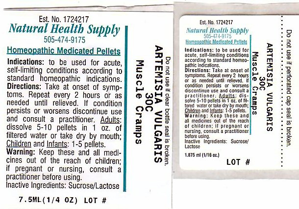Muscle Cramps (Artemisia Vulgaris Root) Pellet [Natural Health Supply]