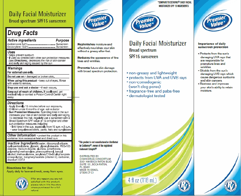 Premier Value Daily Facial Moisturizer (Avobenzone, Octocrylene) Cream [Chain Drug Consortium, Llc]