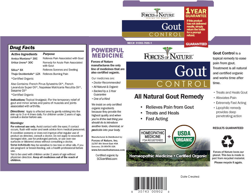 Gout Control (Arnica Montana, Urtica Urens, Silicon Dioxide, And Thuja Occidentalis Root) Solution/ Drops [Forces Of Nature]