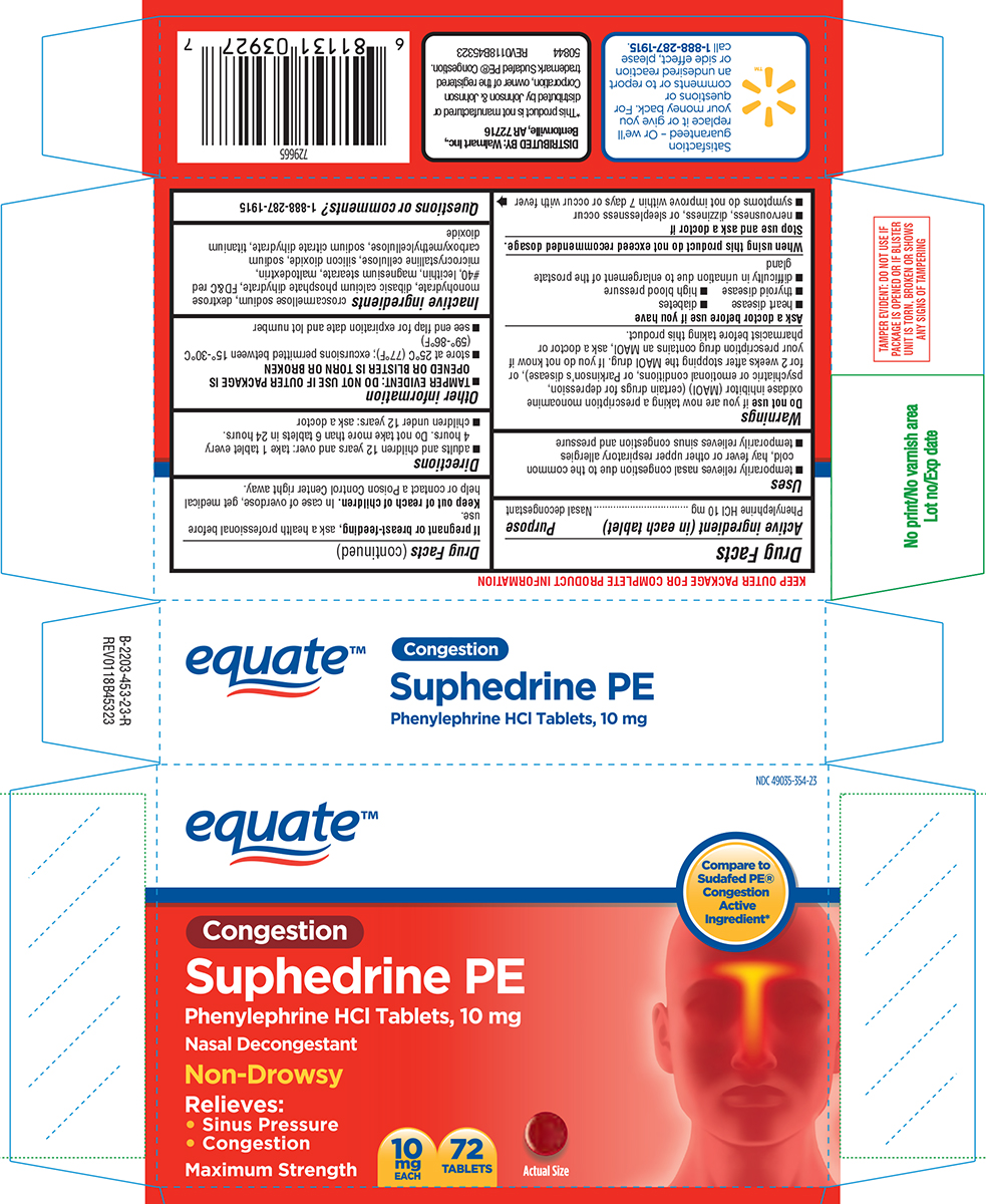 Suphedrine Pe (Phenylephrine Hcl) Tablet, Film Coated [Wal-mart Stores Inc]