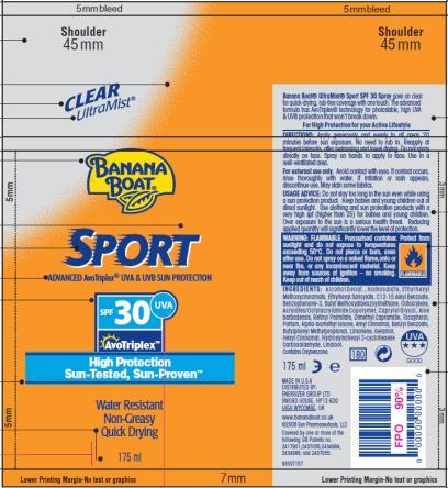 PRINCIPAL DISPLAY PANEL Banana Boat Sport SPF 30