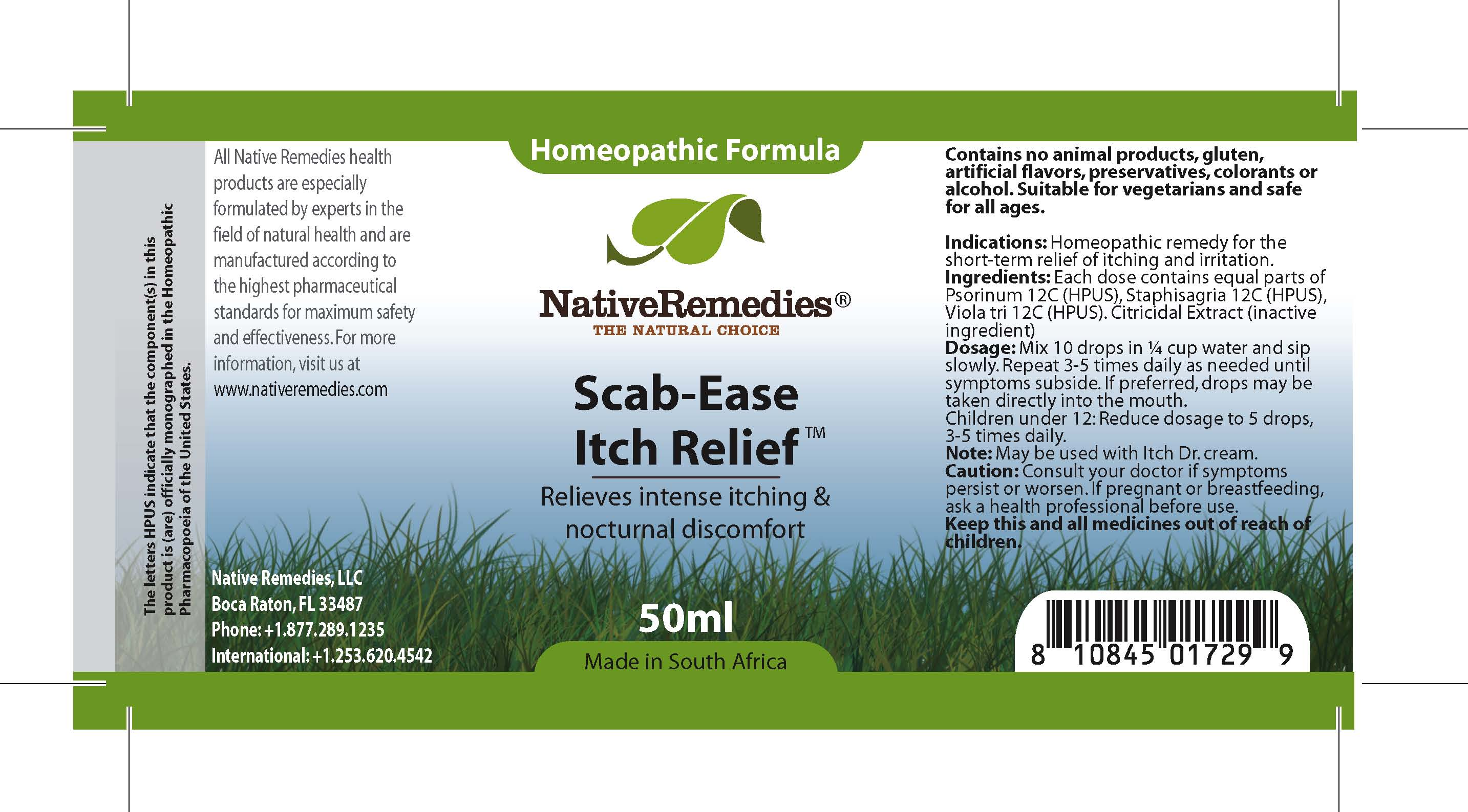 Scab Ease Itch Relief (Psorinum , Staphisagria , Viola Tri ) Tincture [Feelgood Health]