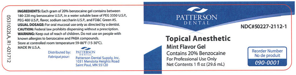 Topical Anesthetic Mint (Benzocaine) Gel [Patterson Dental Supply Inc]