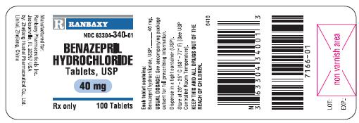 Bottle Label 40 mg 100's