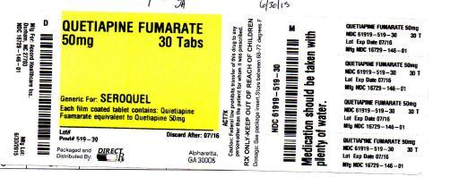 Quetiapine Fumarate Tablet, Film Coated [Direct Rx]