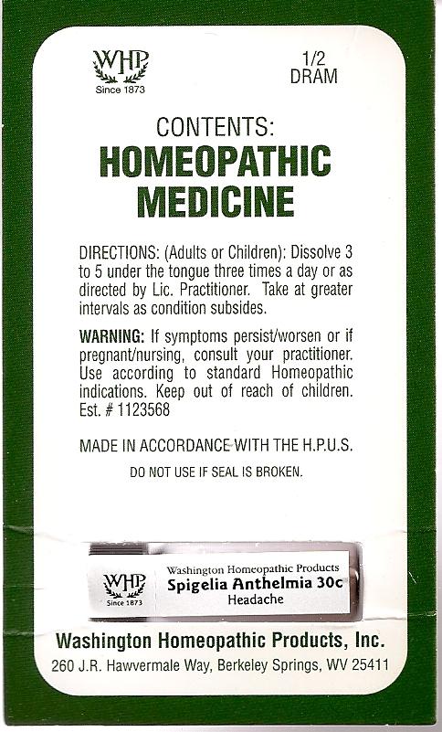 Spigelia Anthelmia Kit Refill (Spigelia Anthelmia) Pellet [Washington Homeopathic Products]