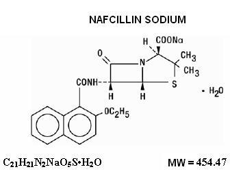 Nafcillin Sodium Chemical Structure