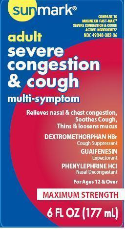 Adult Severe Congestion And Cough (Dextromethorphan Hbr, Guaifenesin, Phenylephrine Hcl) Liquid [Mckesson]