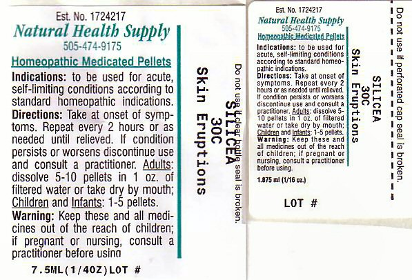 Skin Eruptions (Silicon Dioxide) Pellet [Natural Health Supply]
