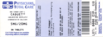 image of 5/20 mg package label