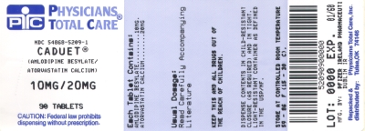 image of 10/20 mg package label